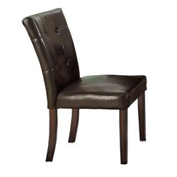 Coaster Milton Dining Chair with Brown Upholstery