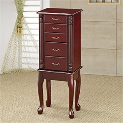 Coaster Jewelry Armoire in Cherry