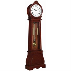 Coaster Grandfather Clock in Cherry