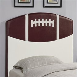 Coaster Youth Headboards Twin Sports Football Panel Headboard in Brown
