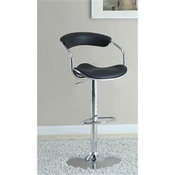Coaster Adjustable Bar Stool in Black