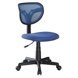 Coaster Mesh Adjustable Height Task Office Chair in Blue