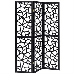 Coaster Intricate Mosaic Folding Screen in Black