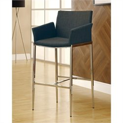 Bar Stool with Chrome Legs