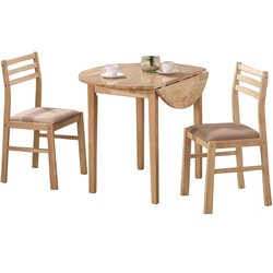 Coaster Dinettes Casual 3 Piece Table and Chair Set