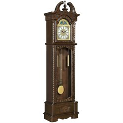 Coaster Grandfather Clock in Deep Brown