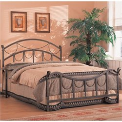 Coaster Whittier Queen Iron Bed with Rope Detail in Antique Brass