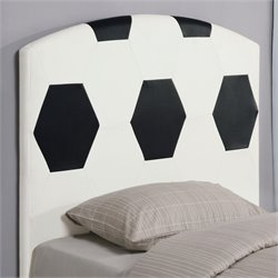 Coaster Youth Headboards Twin Sports Soccer Ball Headboard in White