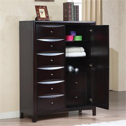 Coaster Phoenix Chest with Drawers in Cappuccino