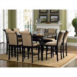 Coaster Cabrillo 9 Piece Gathering Dining Set in Black