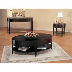 Coaster 3 Piece Coffee Table Set in Cappuccino
