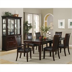 Coaster Ramona Transitional 8 Piece Dining Set in Walnut