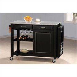 Coaster Kitchen Carts with Granite Top