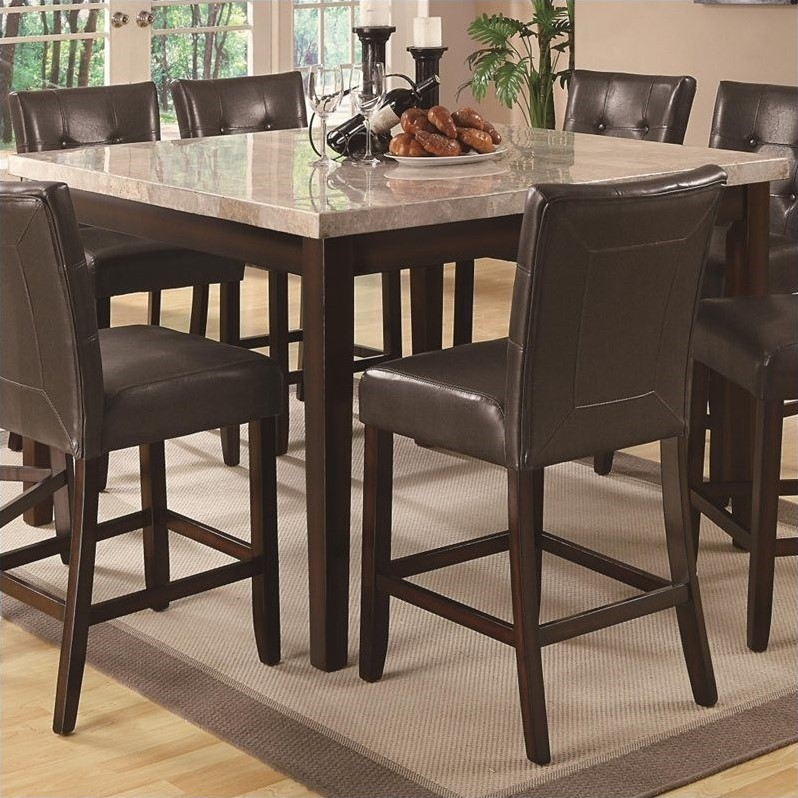 Coaster Milton Counter Height Dining Table with Marble Top  : 466570 L from www.cymax.com size 798 x 798 jpeg 171kB