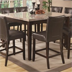 Coaster Milton Counter Height Dining Table with Marble Top in Cappuccino