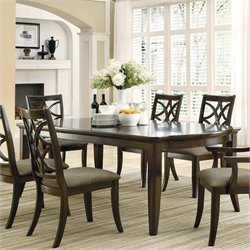 Coaster Meredith Dining Leg Dining Table with Leaf Extensions in Espresso