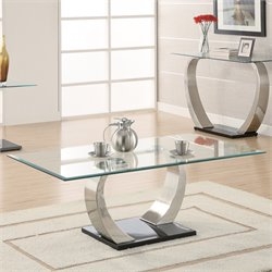 Coaster Shearwater Coffee Table in Satin Metal