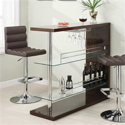 Coaster Rectangular Home Bar Unit in Cappuccino