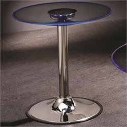 Coaster LED Transitioning End Table in Chrome