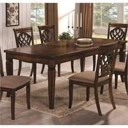 Coaster Rectangular Dining Table Leaf in Oak