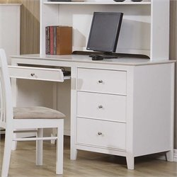Coaster Selena Computer Desk with Drawer Storage in White