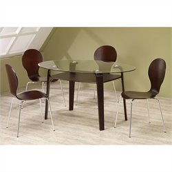 Coaster Orval 5 Piece Table and Chair Set in Cappuccino