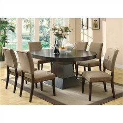 Coaster Myrtle Extendable Dining Set in Cappuccino