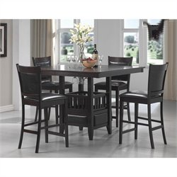 Coaster Jaden 5 Piece Table and Stool Set in Cappuccino