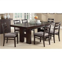 Coaster Dabny 7 Piece Dining Set Light Ash