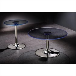 Coaster 2 Piece LED Coffee and End Table Set in Chrome