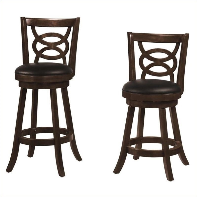 Coaster Upholstered Bar Stool in Cappuccino