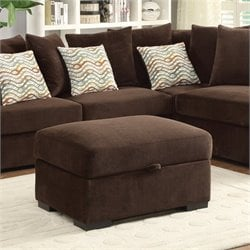 Coaster Olson Fabric Ottoman in Chocolate