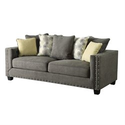 Coaster Kelvington Fabric Sofa in Gray