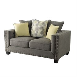 Coaster Kelvington Fabric Loveseat in Gray