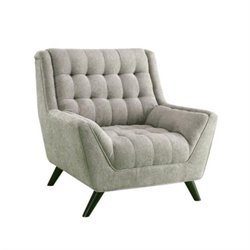 Coaster Natalia Tufted Fabric Chair in Grey