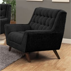 Coaster Natalia Tufted Fabric Chair in Black