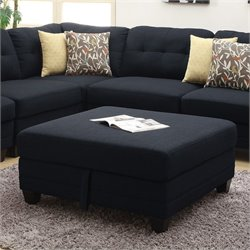 Coaster Keaton Storage Ottoman in Midnight Blue