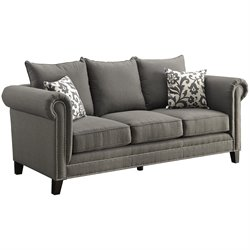 Coaster Emerson Fabric Sofa in Gray