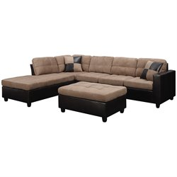 Coaster Fabric Sectional in Tan