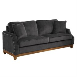 Coaster Acklin Velvet Sofa in Graphite