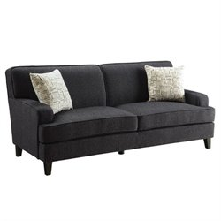 Coaster Finley Fabric Sofa in Black