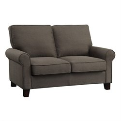 Coaster Noella Fabric Sofa Loveseat in Grey