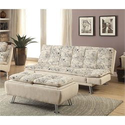Coaster Fabric Sofa Set in Beige