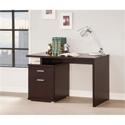 Coaster Contemporary Desk with Cabinet