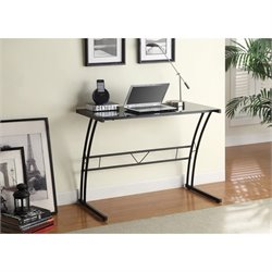 Coaster Tempered Glass Top Writing Desk in Black
