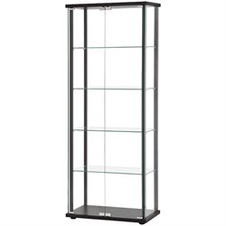 Coaster 5 Shelf Contemporary Curio Cabinet in Black