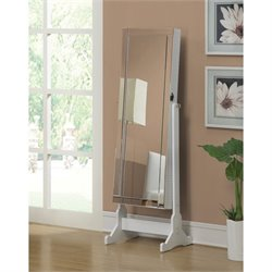 Coaster Jewelry Armoire Accent Mirror in White