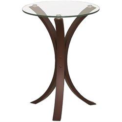 Coaster Glass Accent Table in Cappucino