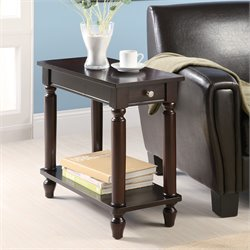 Coaster End Table Accent Table in Cappucino
