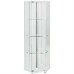 Coaster Glass Hexagon Curio Cabinet in White